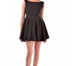 Skater Dress with Open Back-W10