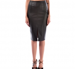 Faux Leather Skirt-W16