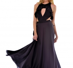 Cut-out long dress-W50